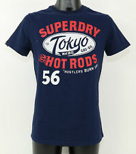 SuperDry T-Shirt - MS1FA549S 98T 'TOKYO HOT RODS' REWORKED CLASSIC TEE NEW