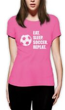 Eat Sleep Soccer Repeat - Cool Gift for Soccer Fans Women T-Shirt Players