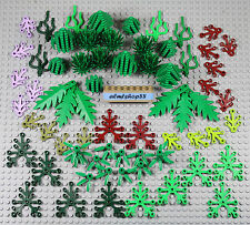 LEGO - Assorted Plants Lot - Forrest Tree Bush Green Grass Foliage Leaves Cactus