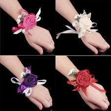 Beauty Bridal Rose Wrist Flower Bridesmaid Corsage Bracelet Wedding Decor 1pcs