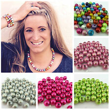 20 16MM 3D ILLUSION MIRACLE ROUND ACRYLIC BEADS FOR JEWELLERY MAKING - UK SELLER