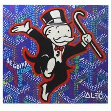 Alec Monopoly-NO.92,Handcraft Portrait Oil Painting on Canvas Painting 24x24inch