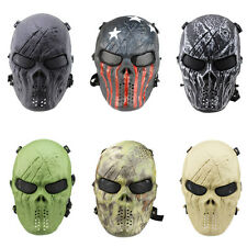 Skull Skeleton Army Airsoft Tactical Paintball CS Game Full Face Protection Mask