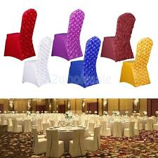 Rose Flower Universal Stretch Long Dining Room Chair Cover Protector Slipcover