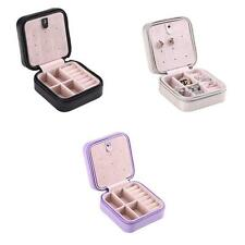 Portable PU Leather Jewelry Earring Ring Display Storage Organizer Box Case Gift