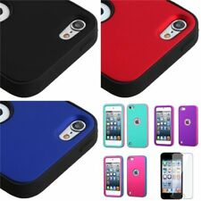 For iPod Touch 5 5th Hybrid Hard Silicone Snap On Case Cover Skin+Protector