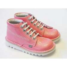 New Season Girls Kickers | Pink Patent Leather Kickers Boots | Jr Sizes