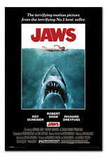 Framed Jaws The Movie 1975 One Sheet Style Film Movie Poster