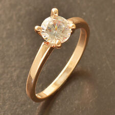 Clear cz Rose Gold Filled Wedding Engagement promise love Ring,Size 6 7 8 9 LOT
