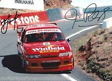 Mark Skaife Jim Richards SIGNED 6x4 or 8x12 photos V8 Supercars HRT BATHURST 199