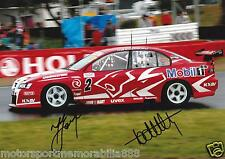 Mark Skaife Todd Kelly SIGNED 6x4 or 8x12 photos V8 Supercars HRT BATHURST 2005