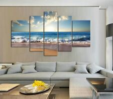 Canvas Paintings Landscape Picture Print for Living Room Wall Seascape Wave 5PC