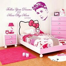 NEVER SAY NEVER Justin Bieber - quote   Wall Art   Bedroom Sticker