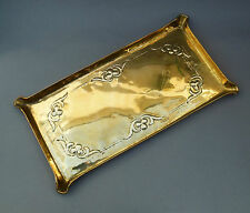 Antique Arts & Crafts Brass Drinks TRAY Hand Made Embossed /Repoussé Wall Plaque