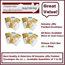 GENUINE JIFFY AIRCRAFT PADDED ENVELOPES / BAGS - WHITE & GOLD - ALL SIZES