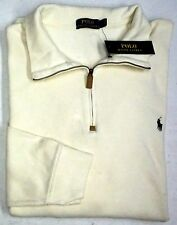 NWT $125 Polo Ralph Lauren 1/4 Zip Sweater Men 2XLT 3XLT 3XB Ivory Cotton NEW