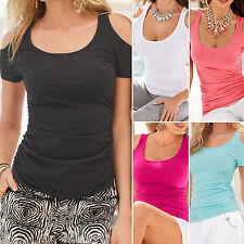 Fashion Women Short Sleeve Sexy T-Shirts Blouse Ladies Summer Casual Loose Tops
