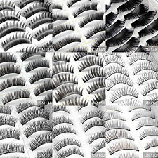 20 Pairs Handmade Thick Natural Black False Fake Eyelash Eye Lashes/9 Type Party