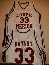5500 Mens Los Angles Lakers KOBE BRYANT Lower Merion Basketball JERSEY White NEW