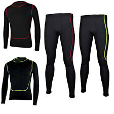 Men's Sports Skin Tights Compression Base Layer Long Shirts & Pants Track Suit