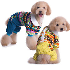 Winter printing Warm Jumpsuit Coat For Pet Dog Cute  Puppy Clothes Jacket cozy