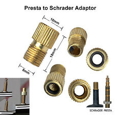 Presta to Schrader adaptor valve bicycle bike car tube pump connector converter
