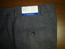 NWT $175 HART SCHAFFNER MARX WOOL MODERN DRESS PANTS MENS PLEATS 38 GREY NEW