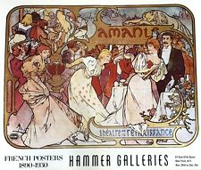 """FRENCH POSTERS by HAMMER GALLERIES  """"Amants Comedie M. Donna""""  24 1/4"""" x 29"""""""