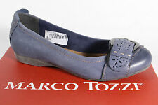 Marco Tozzi Ballerinas Slippers blue, Real leather NEW