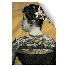 Tattoo Wrapping Paper Tattooed Lady Gift Wrap Retro Vintage Print Picture