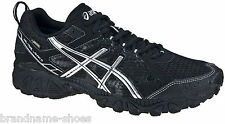 MENS ASICS GEL TRAIL LAHAR 5 G-TX GTX BLACK RUNNING TRAINING ATHLETIC GYM SHOES