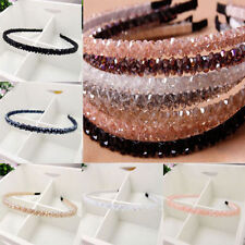 Fashion Women Girl Chic Bead Crystal Headband Head Piece Hair Band Gift