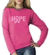 Hope Breast Cancer Awareness Pink Ribbon Women Sweatshirt Support