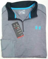NWT Under Armour 1/4 Zip UA Performance Heat Gear Mens XL Loose Fit Gray Heather