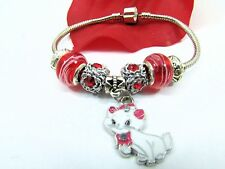 European Style Sterling Silver Red Murano Beads With Kitty