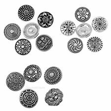 10Pcs 20mm Rhinestone Snaps Charm Button Fit For Noosa Bracelets Rings
