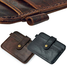 Men Faux Leather Slim Money Clip Wallet ID Credit Card Holder Case Florid Cool