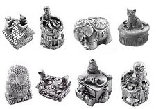 Christening Gift Pewter Childrens Keep Sake First Curl / Tooth  Wee Boxes