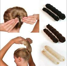 black Magic Sponge Clip Foam Bun Curler Twist Hair Styling Maker Tool set 3CF