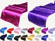 "18 Colors Satin Table Runner 12"" x 108"" Wedding Decoration Supply Party"