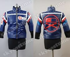 My Chemical Romance Party Poison Blue Pleather Jacket Cosplay Costume