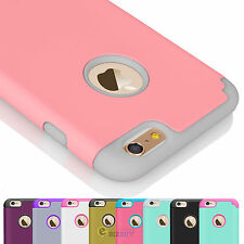"For 4.7"" 5.5"" Plus iPhone 6 / 6S Luxury Shockproof Rugged Rubber Hard Case Cover"
