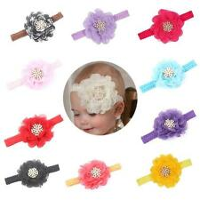 Kids Infant Baby Headwear Girls Pearl Lace Flower Headband Hair Band Accessories
