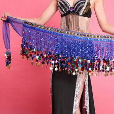 New Sexy Chiffon Belly Dance Scarf Ruffled Sequin Belt Skirt Tassel Hip Wrap