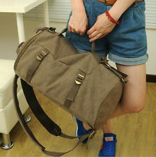 Hot Men's Vintage Canvas Hiking Travel Backpack Military Messenger Tote Handbag