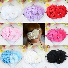 New Baby Kids Girls Toddler Cute Flower Pearl Decor Headband Hair Band Fashion