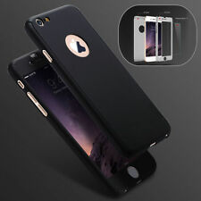 HYBRID 360° HARD ULTRA THIN CASE + TEMPERED GLASS COVER FOR iPhone 6 6s 7 Plus