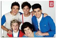 One Direction Red White & Blue Poster New - Laminated Available