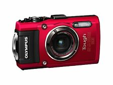 NEW Stylish Red TG-4 16 MP Waterproof Digital Camera With 3-Inch LCD by Olympus