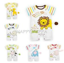 New Baby Boy Girl Cartoon Animal Clothes Toddler Infant Romper Bodysuit Playsuit
